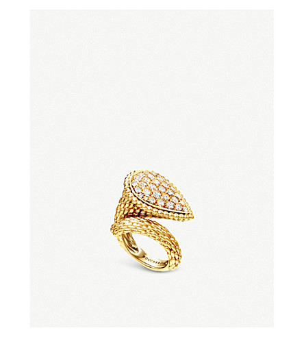BOUCHERON Serpent Bohème 18ct yellow-gold and diamond ring
