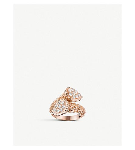 BOUCHERON Serpent Bohème Toi et Moi 18ct rose gold and diamond ring