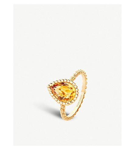 BOUCHERON Serpent Bohème 18ct yellow gold and citrine ring