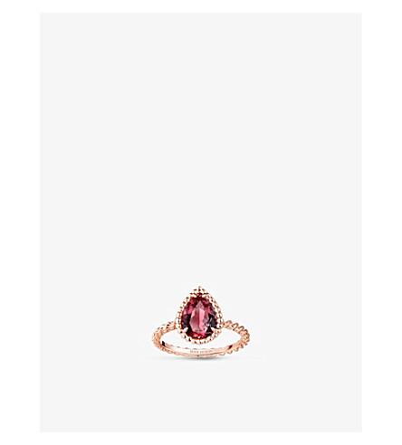 BOUCHERON Serpent Bohème 18ct pink-gold and rhodolite garnet ring