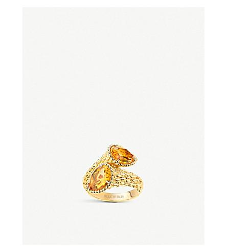 BOUCHERON Serpent Bohème Toi et Moi 18ct yellow gold and citrine ring