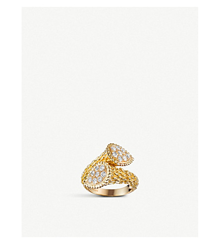 BOUCHERON Serpent Bohème Toi et Moi 18ct yellow-gold and diamond ring