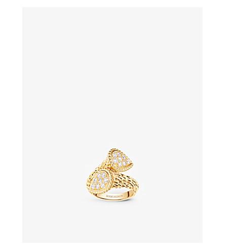 BOUCHERON 蛇 Bohème 18ct 黄金钻石戒指