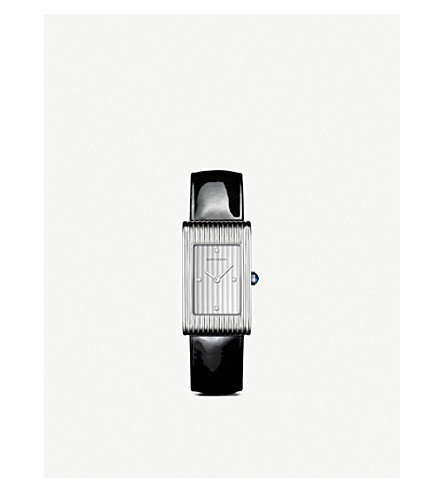 BOUCHERON Reflet medium stainless steel, diamond and cabochon watch
