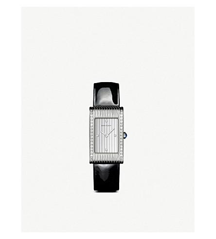 BOUCHERON Reflet 中等不锈钢, 钻石和蓝宝石凸圆形手表