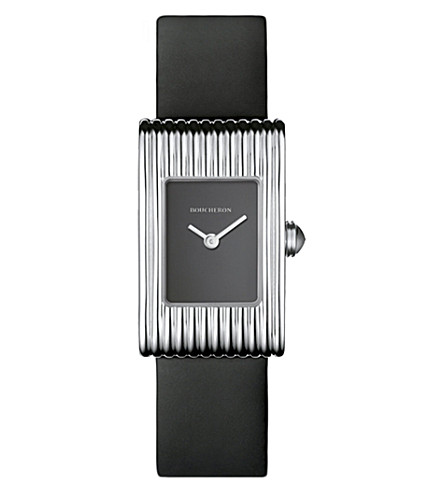 BOUCHERON Reflet small stainless steel and sapphire cabochon watch