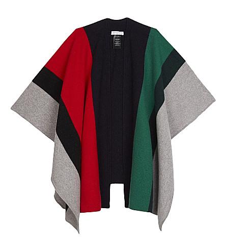 SANDRO Oversized multi-coloured wool scarf (Multi-color