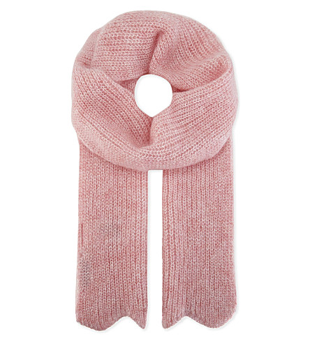 SANDRO 艾萝依马海毛混合围巾 (轻 + 粉红色