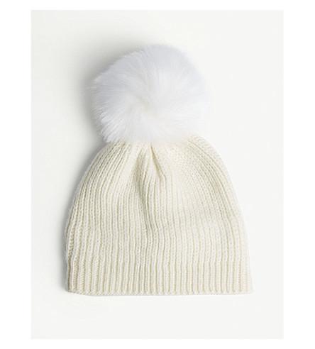 SANDRO Gulian 针织羊毛混纺绒球毛线帽 (本色