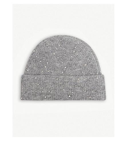 SANDRO 水晶点缀毛线帽 (灰色