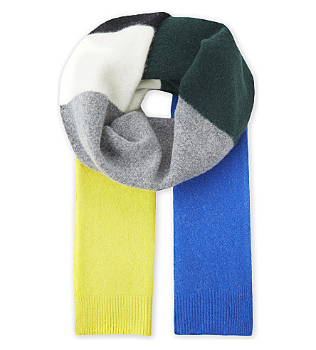SANDRO Esthée multi-coloured wool scarf (Multi-color