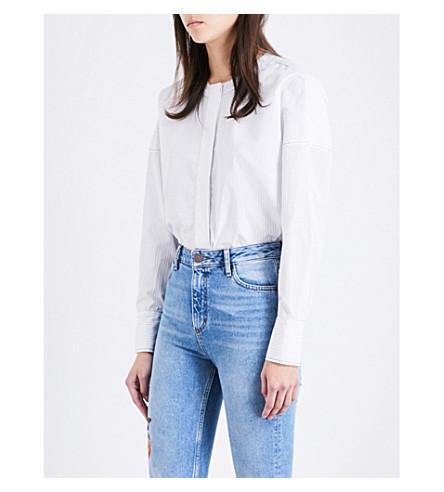 SANDRO Striped cotton shirt (White