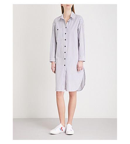 SANDRO Striped cotton shirt (Blanc