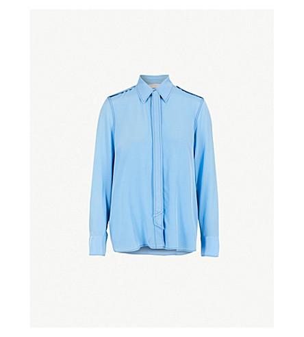 SANDRO 颈领带丝绉衬衫 (天 + 蓝