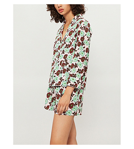 SANDRO 花卉印花绉衬衫 (花瓣