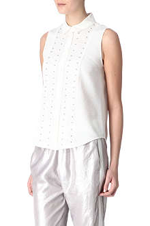 SANDRO Calice sleeveless blouse