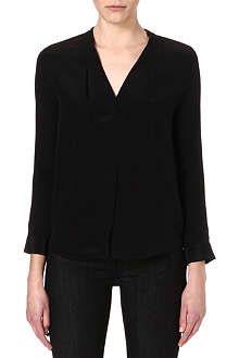 SANDRO Caresse silk crepe top