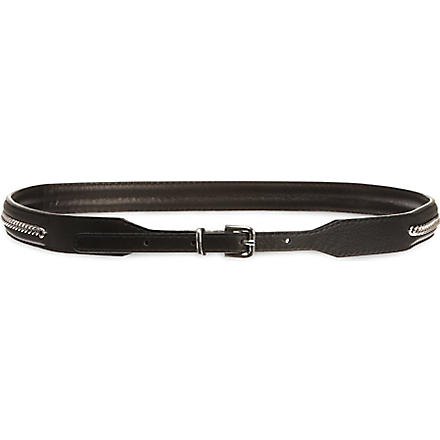 SANDRO Ampli skinny chained belt (Black