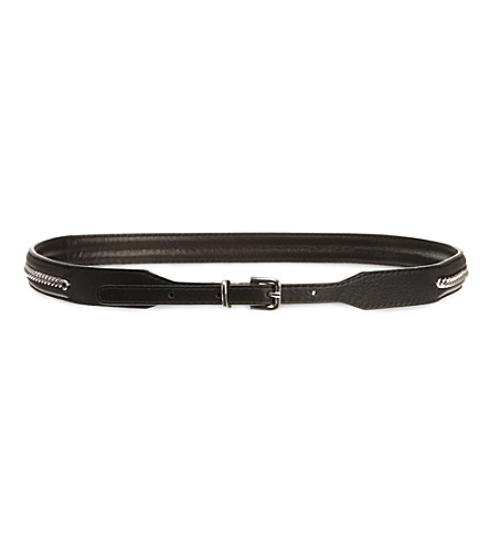 SANDRO Ampli skinny chained belt (Black