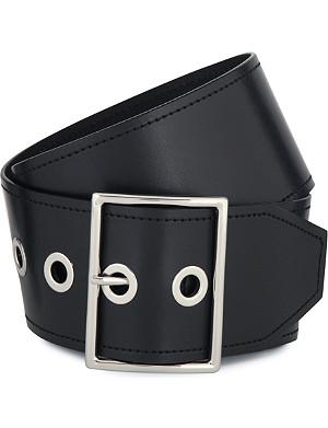 SANDRO Alda calfskin leather belt