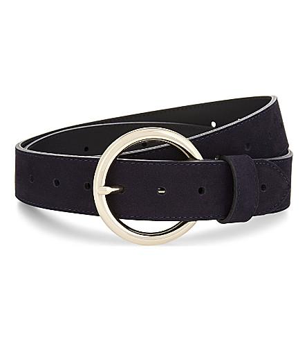 SANDRO Moyenne suede belt (Dark+navy