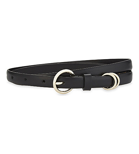 SANDRO Carlotta leather belt (Black