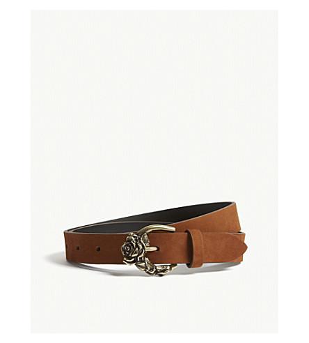 SANDRO Caillie leather belt (Camel