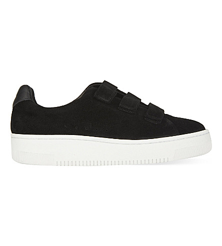 SANDRO Amazing suede trainers (Black