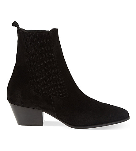SANDRO Amelya suede Chelsea boots (Black