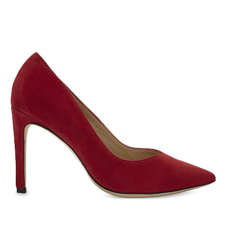 SANDRO Daphnée suede court shoes (Red
