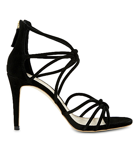 SANDRO Ella suede heeled sandals (Black