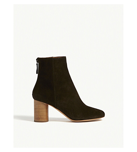 Sacha suede heel ankle boots(CH1372H)