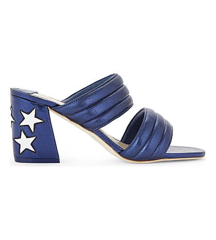 SANDRO Grace metallic leather heeled sandals (Multi