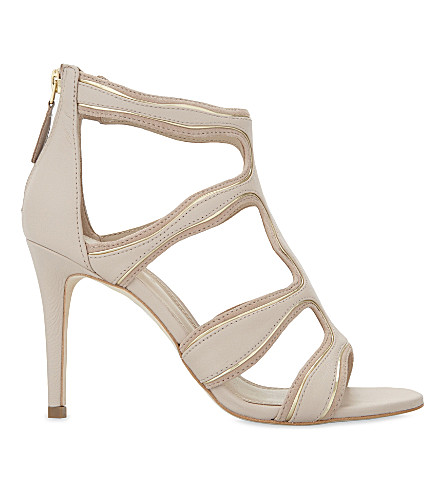 SANDRO Alexie leather heeled sandals (Nude