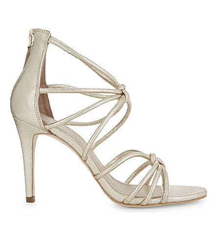 SANDRO Ella metallic leather sandals (Gold