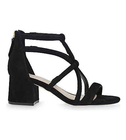 SANDRO Juliette suede heeled sandals (Black