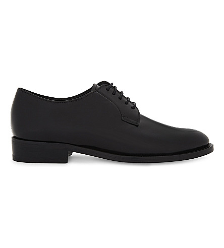 SANDRO Leather Derby shoes (Black
