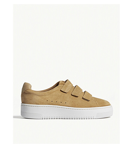SANDRO Amazing suede strap trainers (Ambre