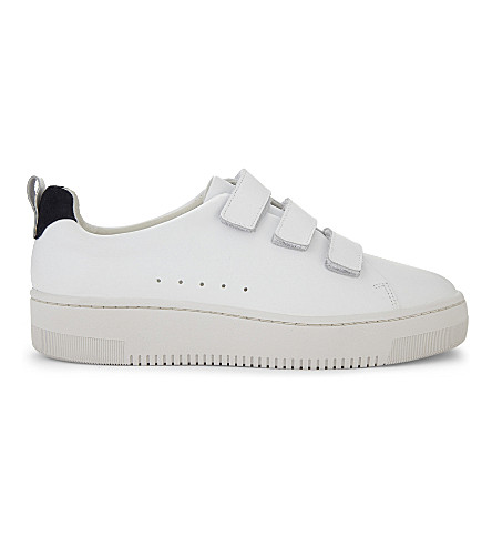 SANDRO Leather low-top trainers (Blanc