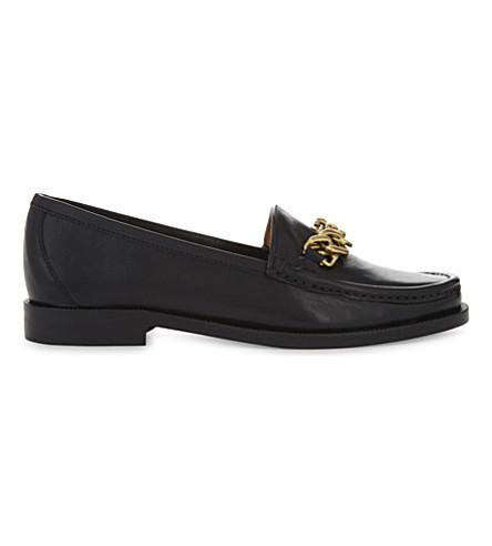 SANDRO 皮革链鹿皮鞋 (黑色