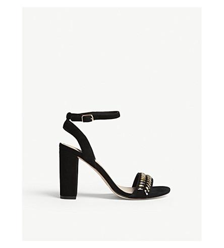 SANDRO Leather sandals (Noir