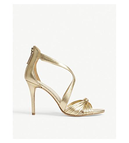 SANDRO Elisa metallic leather sandals (Or