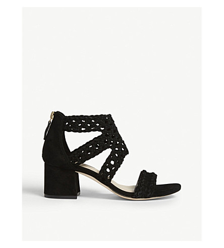 SANDRO Lena suede sandals Noir Best Seller Sale Online Cheap Sale Cost Outlet New Discount Finishline Inexpensive For Sale eZuVo6FhNQ