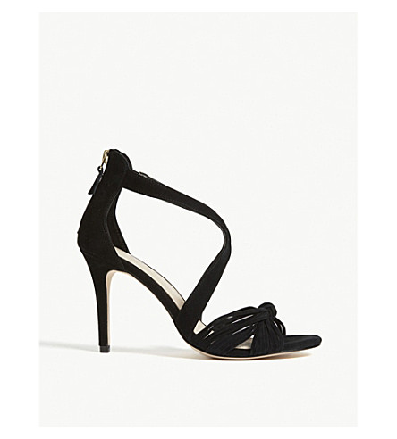 SANDRO Elisa suede sandals (Noir