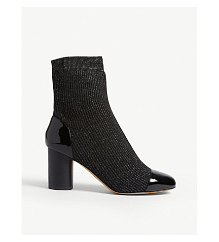 Lyv glitter sock ankle boots(CH1674H)
