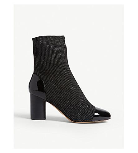 SANDRO Lyv 亮片袜子踝靴 (黑色
