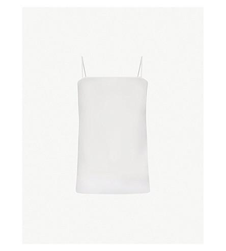 SANDRO Square neck crepe camisole (Ecru