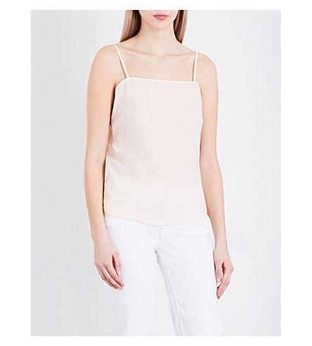 SANDRO Square neck crepe camisole (Nude