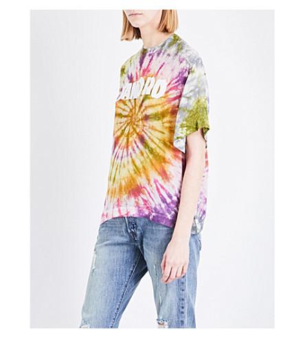 SANDRO Tie-dye satin T-shirt (Multi-color
