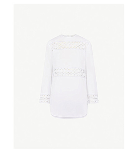 SANDRO Broderie anglaise cotton top (Ecru